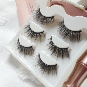 Magnetic reusable mink eyelashes  3 pairs set